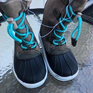 Cat & Jack Girls Paloma Tall Sherpa winter boots